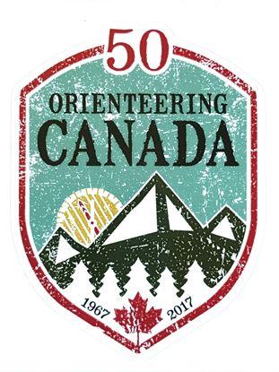Image de Orienteering Canada 50th Anniversary Sticker