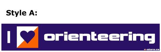 Picture of I Love Orienteering Bumper Sticker